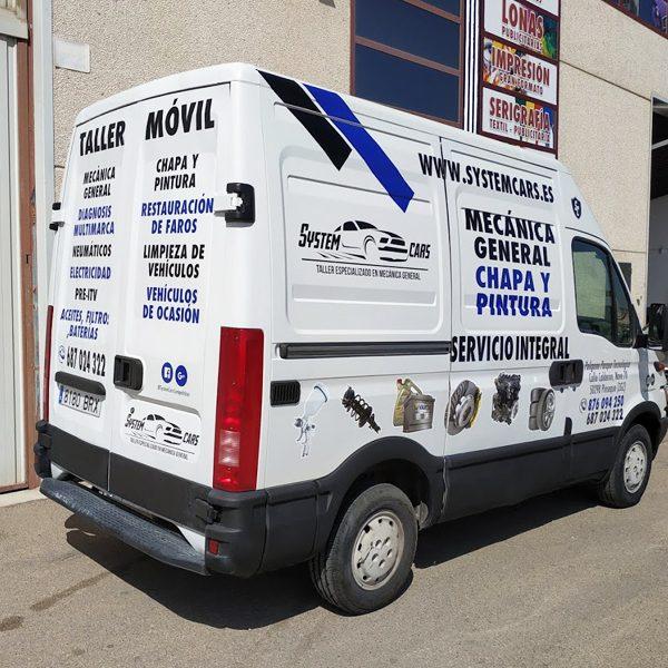 rotulacion-furgoneta-taller-mecanico-vinilo