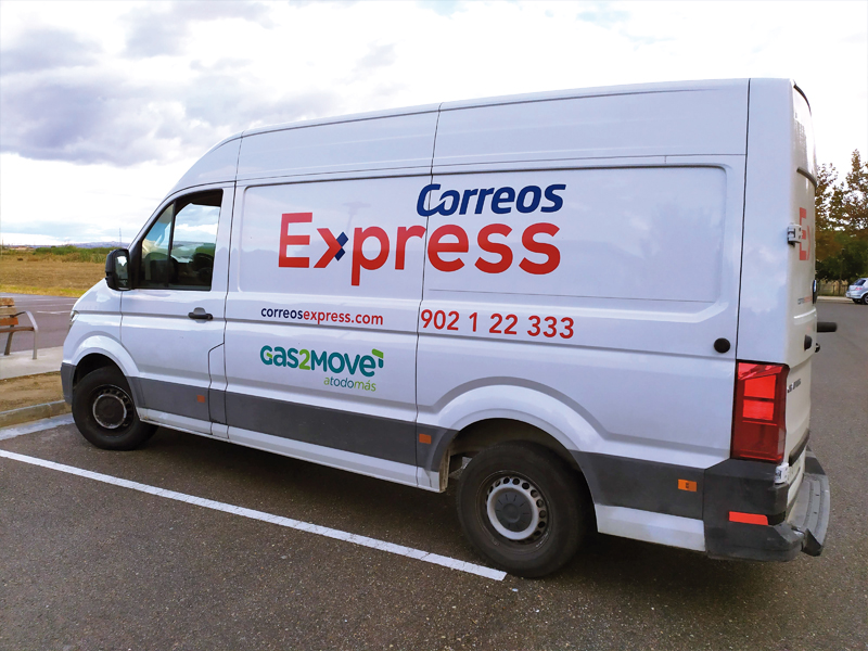 Vinilado de furgoneta Gas2Move - Correos Express